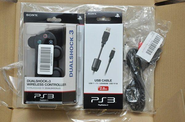 PS3のコントローラーと2.8mケーブルとs端子を買う