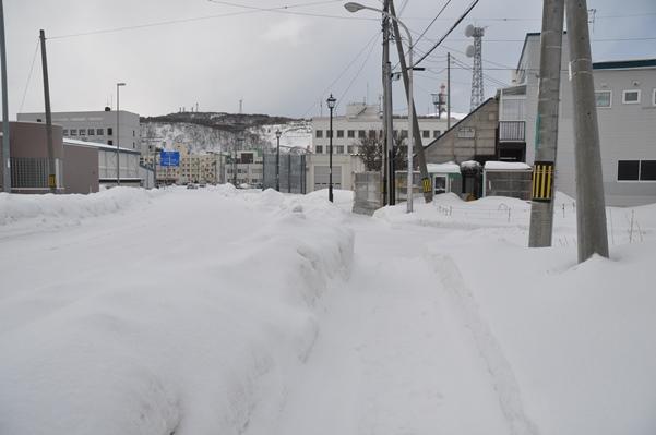 2017北海道好きなら冬に行かないとの5泊6日旅 その15稚内フェリーターミナルから稚内駅へ歩く2017年2月1日
