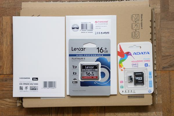 amazonでmicro SDとSDカードとコンパクトフラッシュを買う