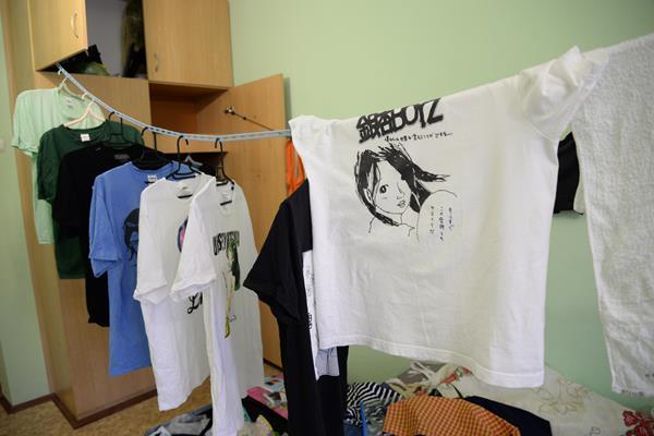 サハリンでこんなバンドのTシャツを着ていました