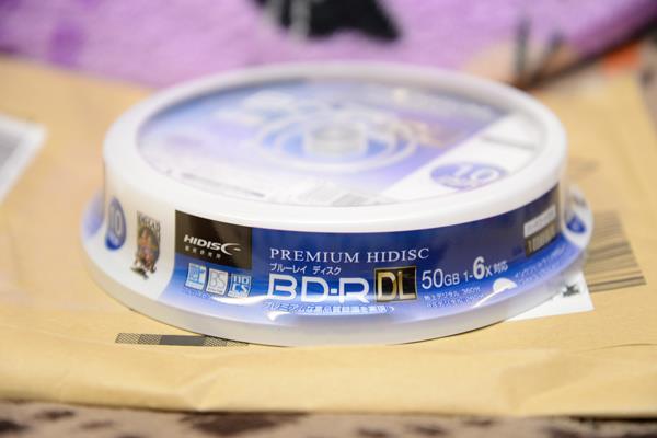 HIDISC 磁気研究所の50GBブルーレイ10枚組を買う