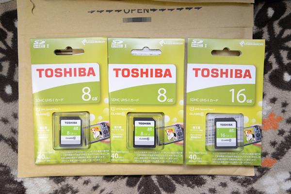 日本製のSDカード、東芝のSDカードをamazonで安く購入する